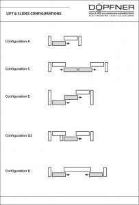 Lift & Slide Configurations